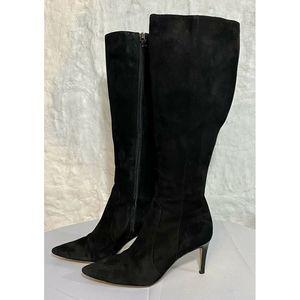 Via Spiga Knee High Boots Womens 6.5M Suede Heels